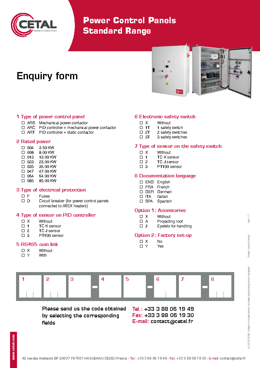 Power Control Panels Cetal French Electrical Plug Wiring Diagram